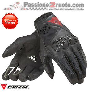 Guanti-Dainese-Mig-C2-nero-pelle-tessuto-protezioni-black-moto-scooter