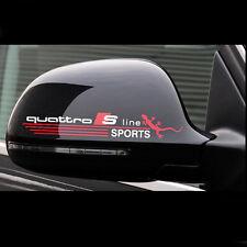 Audi 2er Set Logo Spiegel Rückspiegel Sticker Aufkleber S-line Quattro A3 A4 A6