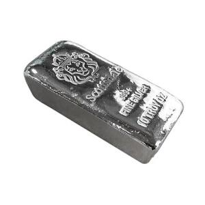 "10 oz .999 Silver Bar by Scottsdale Mint Loaf Pour ""Chunky"" #A396"