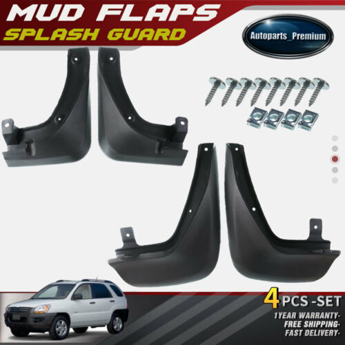 NEW 4pcs Front and Rear Splash Guards Mud Flaps for Kia Sportage 2005-2009 2010