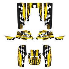 Yamaha Banshee graphics decal sticker kit full coverage #3500 Yellow