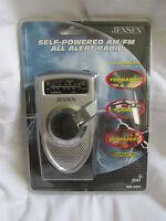 Brand Sealed Jensen Self-powered Am/fm Weather Band All Alert Radio Mr-550