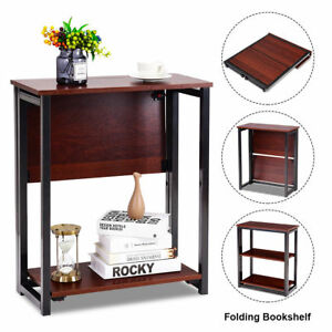 Image Is Loading Small Multifunctional 3 Tier Shelves Folding Bookcase Shelf
