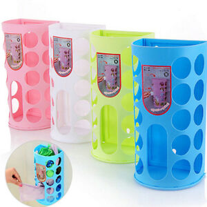 Bag-Holder-Dispenser-Grocery-Plastic-Storage-Box-Wall-Mount-Kitchen-Organizer-LE