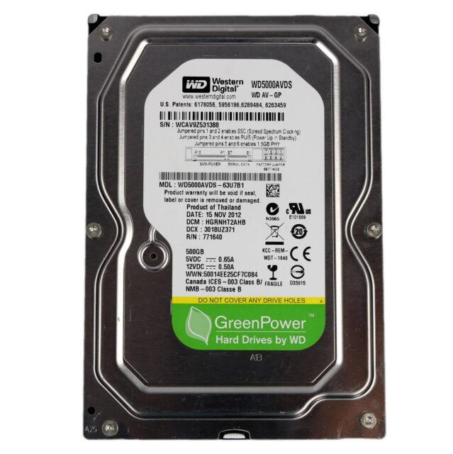 500 GB WD Western Digital Festplatte 3,5 Zoll Green SATA Computer PC intern 32MB
