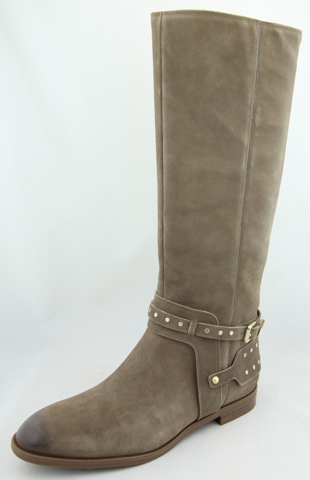 Nine West femme taupe Luciana cloutées Tall Riding démarrage Chaussures Ret  199 NEUF