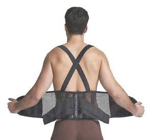 Back Support Belt & Waist Brace W Adjustable Suspenders Black Clothing & Accessories