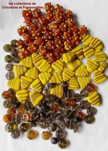 Doux Perles En Pate De Verre Opaque Batons Relief Et Triangles Plus Diverses *