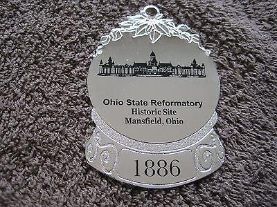Mansfield Prison Ohio State Reformatory Holiday Guard Badge Gold Ornament HTF