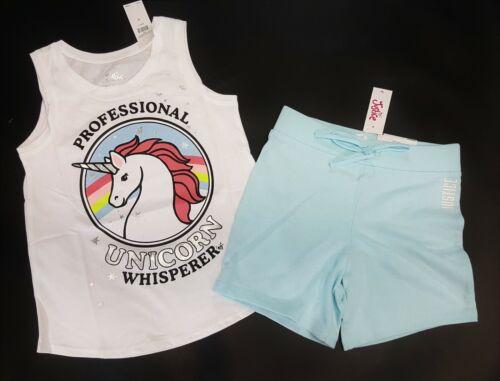 NWT Justice 6//7 8 10 12 14//16 Unicorn Whisperer Horse Top /& Blue Bermuda Shorts