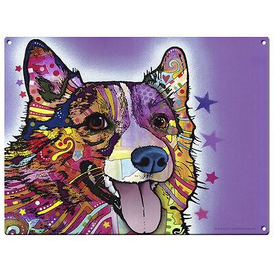 Corgi Dog Dean Russo Pop Art Metal Sign Pet Steel Wall Decor 16 x 12