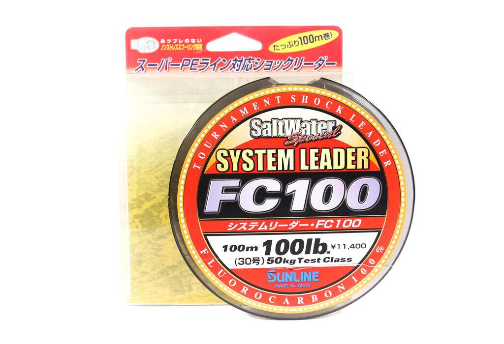 Sunline sistema 100 choque líder de fluoroCochebono línea 100m 100lb (1949)