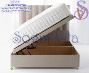 459124fe7e14 Divan Ottoman Side Lift Storage Bed Single 4'6 Double 5ft King Size ...