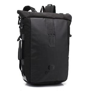 Casual Men Roll Top Backpack Travel Bag Waterproof Laptop Backpack ... 9e527af4c143a
