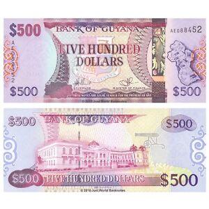 Guyana-500-dolares-2011-P-37-Billetes-Unc