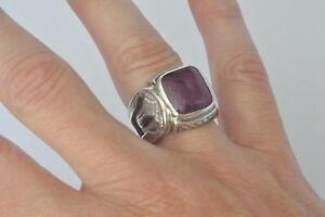 Konstantino-Men-039-s-Cut-Out-Ring-Size-10-Ruby-Root-Sterling-Silver-Heonos-New