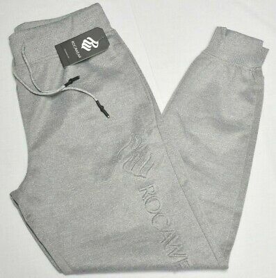 Rocawear Jogger Pants Men/'s Rivals Tech Fleece Logo Sweatpants Grey Urban P860