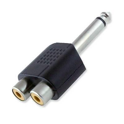 6,3mm Klinke Stecker auf Chinch Buchse Mono Audio Adapter Vitalco Cinch 2 St/ück