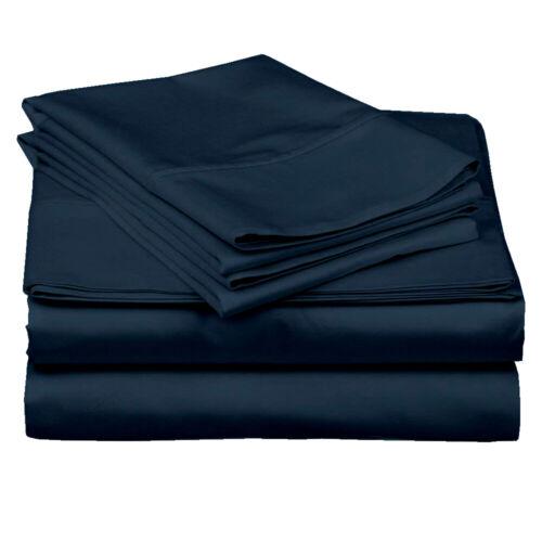 "Super Soft Linen Extra Size And Color 400 TC Egyptian 15/"" Drop Sheet Set 4 PCs"