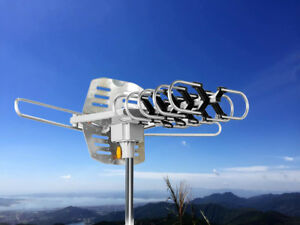 HDTV Antenna Amplified Digital TV Antenna 150 Miles Range 360° Rotation Outdoor