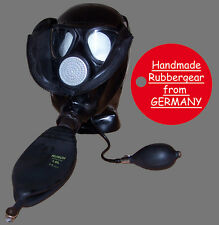 Latex Rubber Gas Mask - Latexmaske Gasmaske - made to measure - Typ: p14