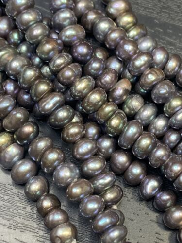 Freshwater Pearls Sale Peacock Pearl Necklace Beautiful Rainbow Shades Of Greens Long 33 Inch Hand Knotted 5 ~ 7 mm Pearls Purples