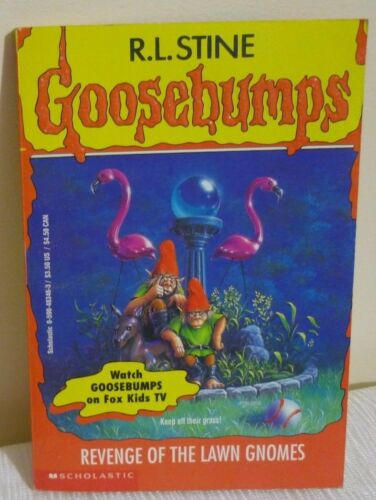 1 of 1 - GOOSEBUMPS paperback BOOK # 34 REVENGE OF THE LAWN GNOMES  by R L STINE