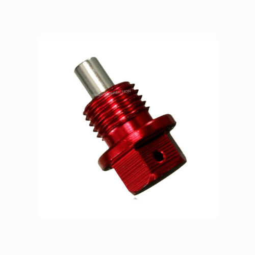RED MAGNETIC RACING OIL PAN DRAIN PLUG BOLT W// CRUSH WASHER FOR HONDA ACURA