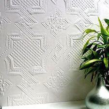 Anaglypta Seymour Wallpaper White Textured Paintable Supaglypta RD0655