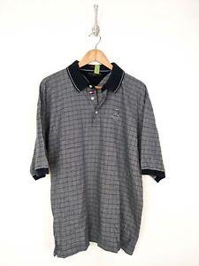 Vintage-Tommy-Hilfiger-Golf-Pinehurst-Polo-Shirt-Men-XL-Gray-Blue-Flag-Cotton