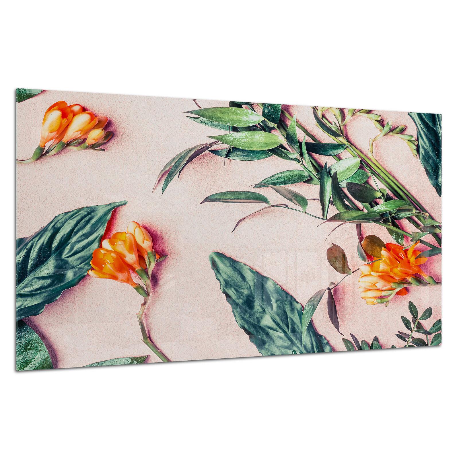 Vidrio templado Foto Impresión Parojo Arte Imagen Botanic Flor Pastel Prizma GWA0355