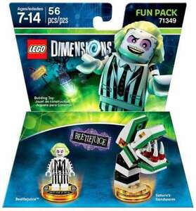 Lego-Dimensions-Video-Game-71349-Beetlejuice-and-Saturn-039-s-Sandworm-Fun-Pack