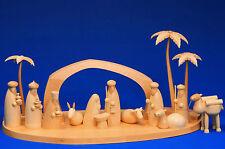 Große Weihnachts-Krippe Christi Geburt mit Palmen & Kamel Schalling Erzgebirge