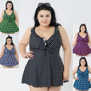 New Ladies Swimwear Two Piece Swimdress Tankini AU Size 20 22 24 26 ... 32ecf79ae3af