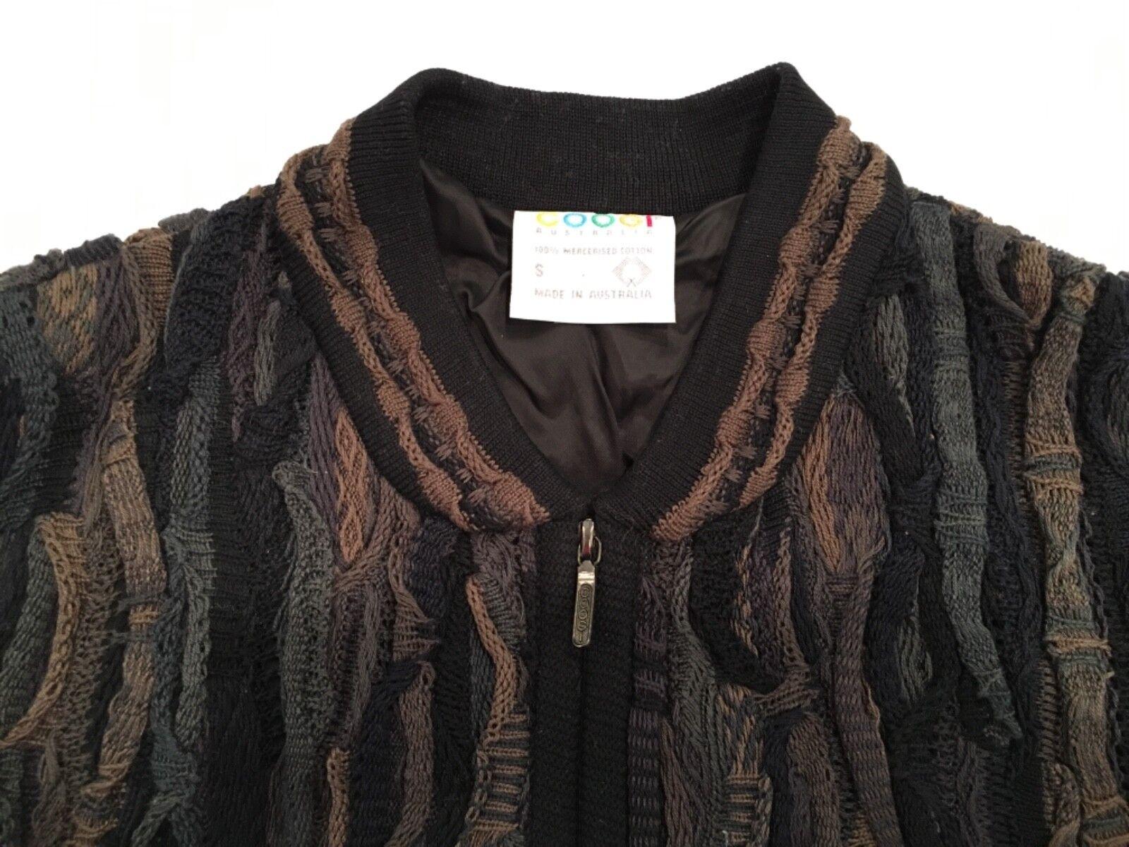 Coogi - S - Vintage Front Zip Sweater Jacket 100% Cotton