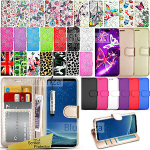 wholesale dealer dde52 9c849 Details about For Samsung Galaxy S8 - Wallet Leather Case Flip Cover +  Screen Protector
