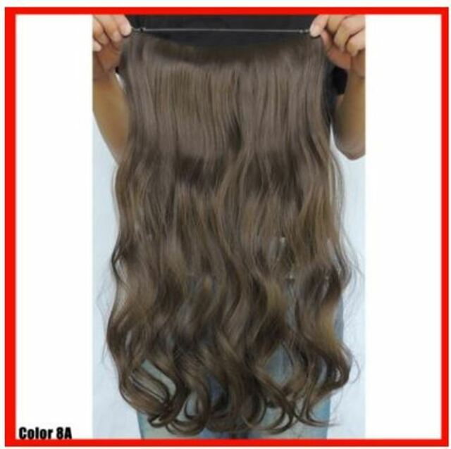 Med Ash Brown 8a Costume Halo Style Wire Hair Extensions 20