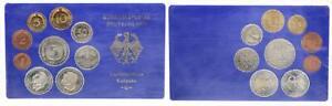 BRD Kurssatz Einzelplatte 1975 G Polierte Platte 1Pf. bis 5 DM 56334