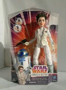 Set di 2 Star Wars FORZE DEL DESTINO Set Principessa Leila /& R2D2 e REY /& BB8