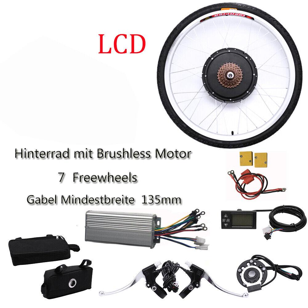 26 36v ebicicletta Conversion Kit LCD bicicletta elettrica conversione frase RUOTA POSTERIORE 800w sale