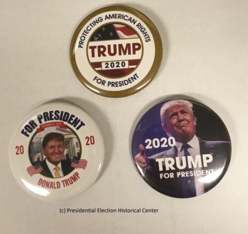 TRUMP-3PAK-001 Donald Trump 2020 3-Pack Campaign Button