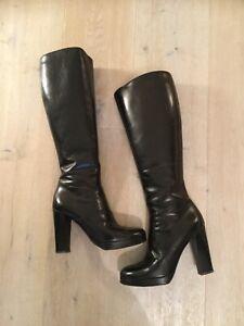 Sandro Vicardi Stiefel Leder schwarz 36,5 einmal getragen | eBay