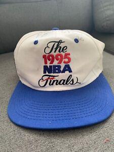 VTG-1995-NBA-Finals-Hat-Cap-Basketball-Orlando-Magic-Snapback-Signed-By-2-Player