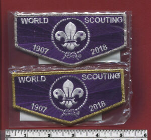 Scouting Around the World Since 1907 World Scouting OA flap Purple