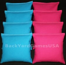 CORNHOLE BEAN BAGS Turquoise Teal & Pink 8 ACA Regulation Corn Hole Game Bags