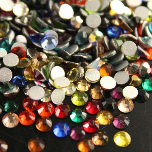 ss6-ss30 mix colors Top Quality Czech Crystal Flatback Rhinestones Non-hot fix
