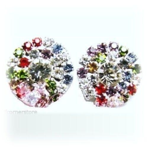 FABULOUS DIAMANTE CRYSTAL EARRINGS-GREAT GIFT IN GIFT BOX E60