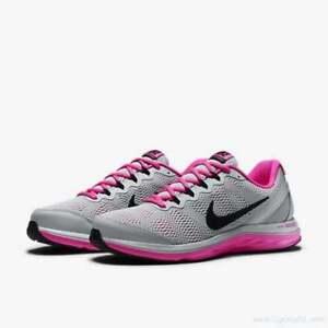 bace6dec4e2 Nike Women s Dual Fusion Run 3 NEW AUTHENTIC Grey  Black  Pink ...