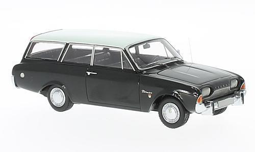 marca famosa Ford Taunus 17m P3 Turnier  negro negro negro  1960 (Neo Scale 1 43   44561)  gran descuento