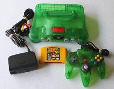 Jungle Green Nintendo 64 Console System Funtastic Atomic Clear Bundle Rare OEM